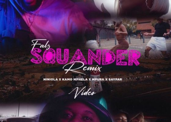 "Falz, Kamo Mphela, Mpura – ""Squander (Remix)"" Video Download ft. Sayfar   Www.djitunez.com"
